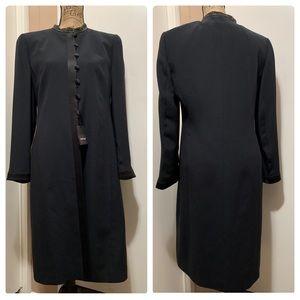 Louis Feraud Silk Long Blazer Coat Embellished 10